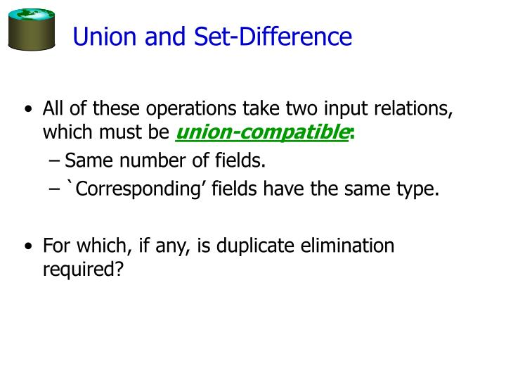 Union and Set-Difference
