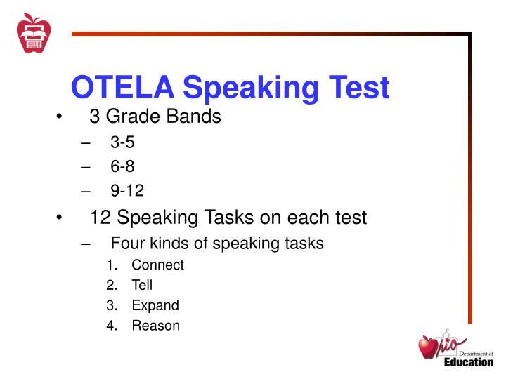 OTELA Speaking Test