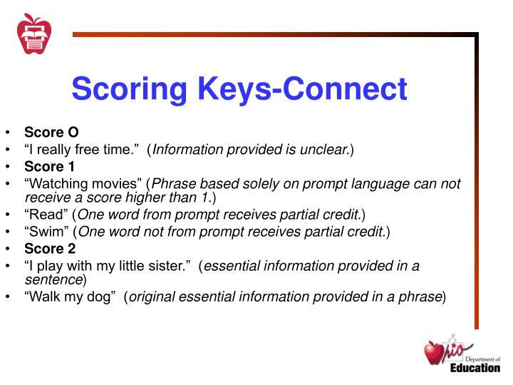 Scoring Keys-Connect