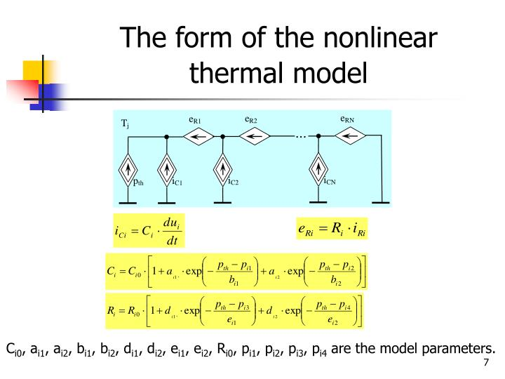 The form of the nonlinear thermal