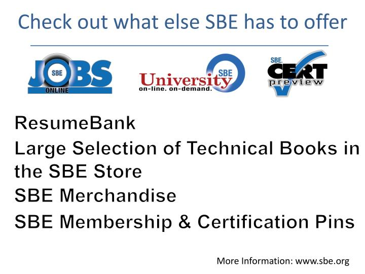 Check out what else SBE has to offer
