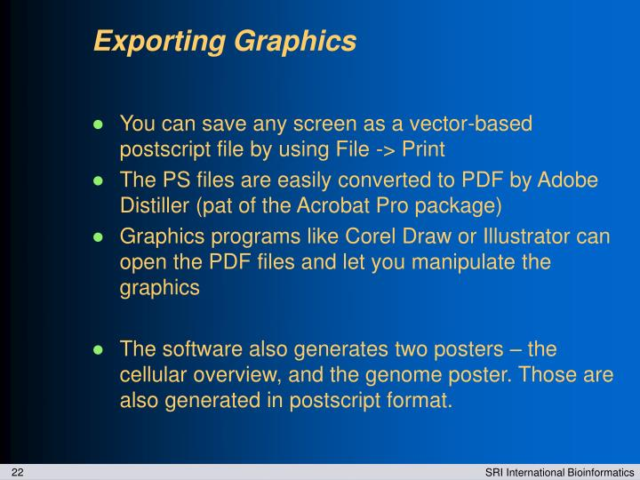 Exporting Graphics
