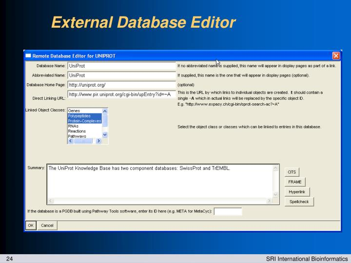 External Database Editor