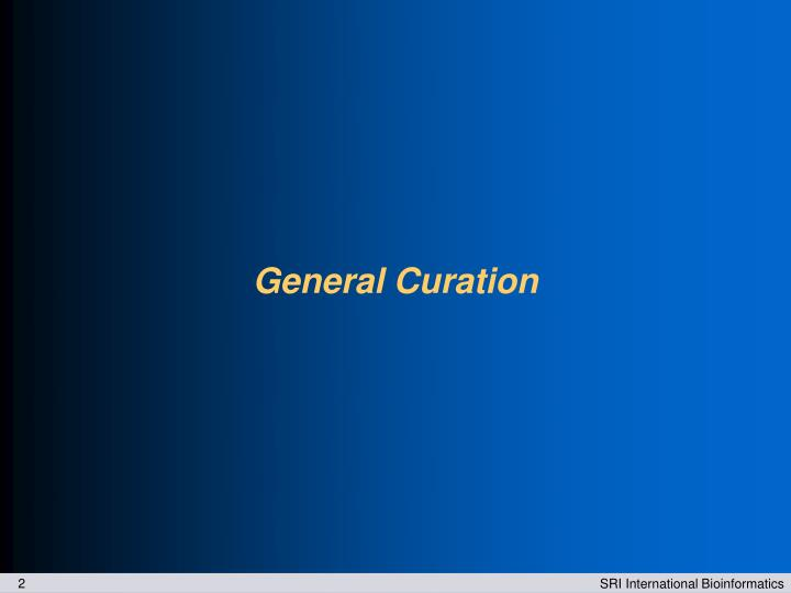 General Curation