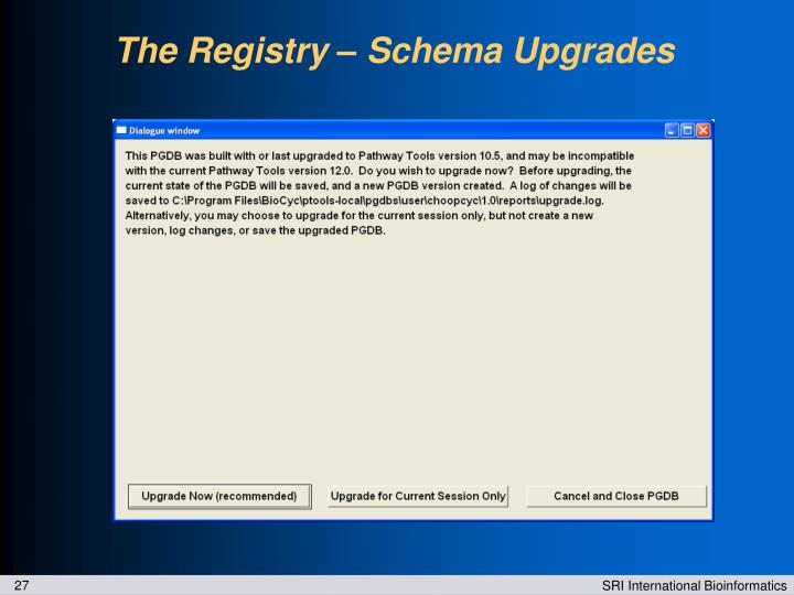 The Registry – Schema Upgrades