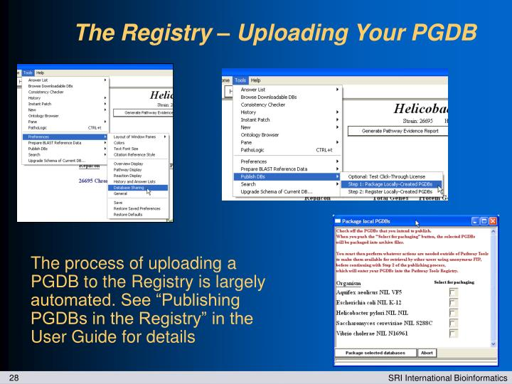 The Registry – Uploading Your PGDB