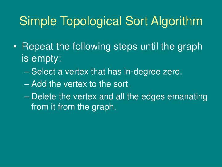 Simple Topological Sort Algorithm