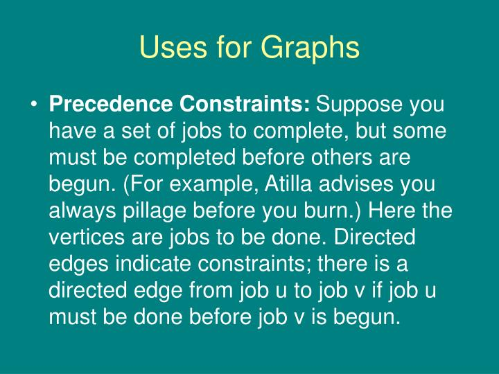 Uses for Graphs