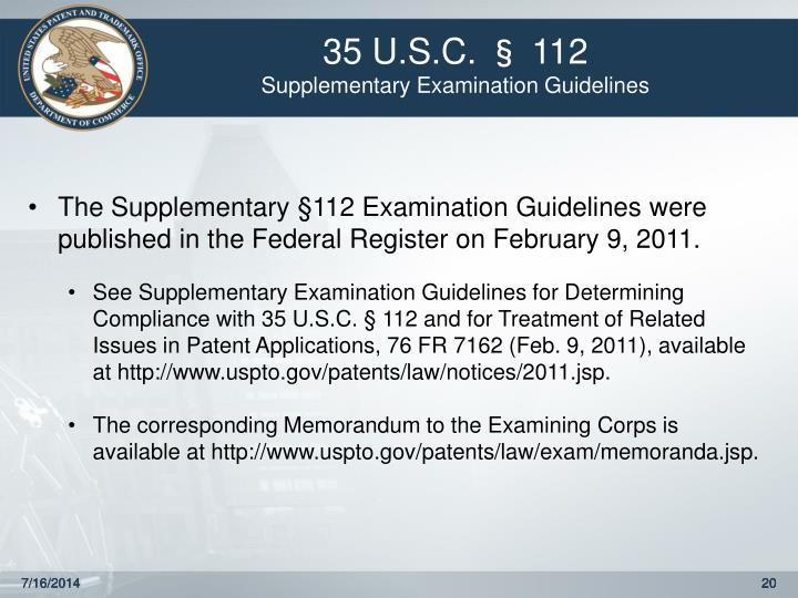 35 U.S.C. § 112