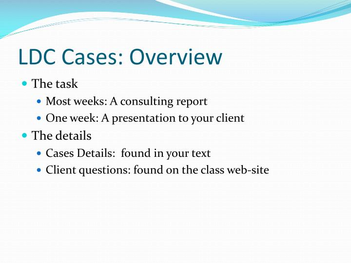 Ldc cases overview