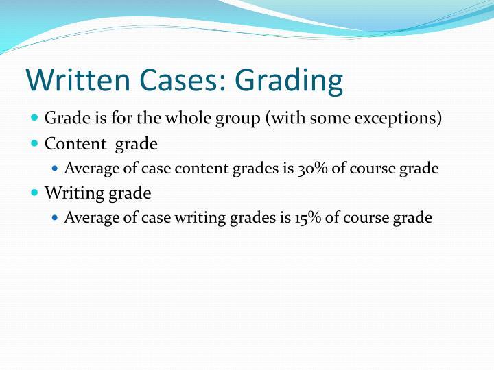 Written Cases: Grading