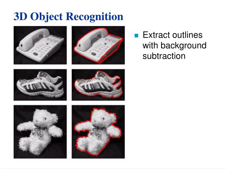 3D Object Recognition