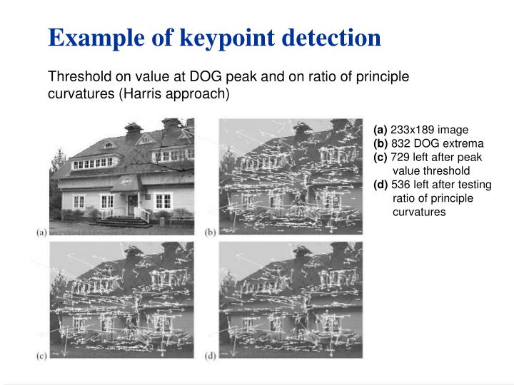 Example of keypoint detection