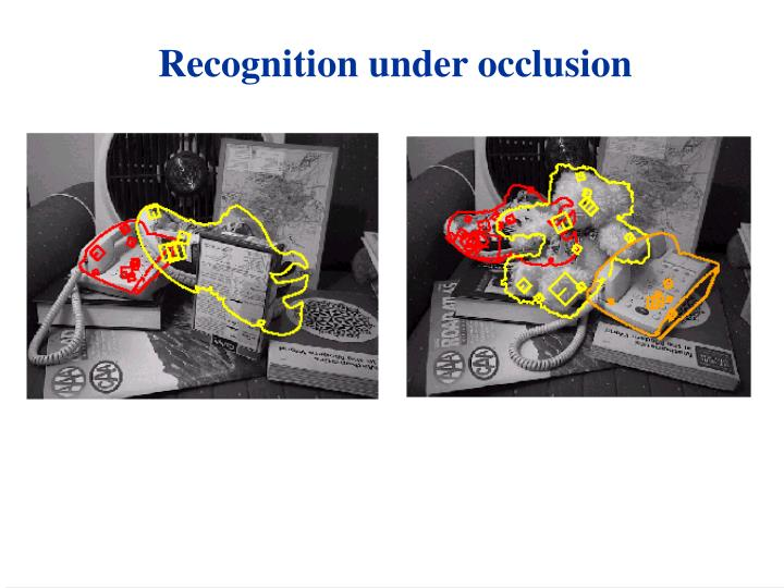 Recognition under occlusion