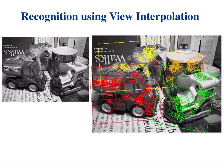 Recognition using View Interpolation