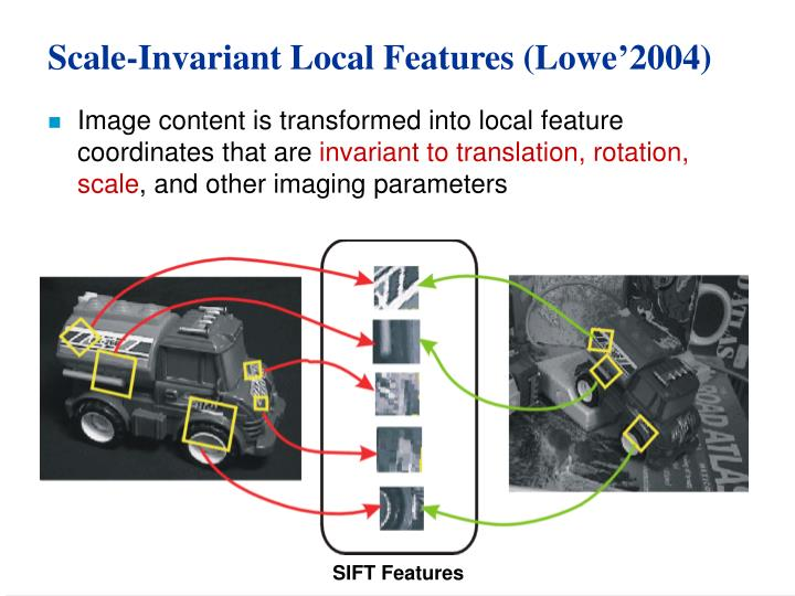 Scale-Invariant Local Features (Lowe'2004)