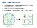 sift vector formation