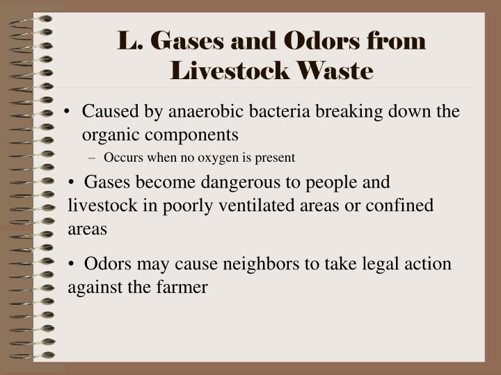 L. Gases and Odors from Livestock Waste