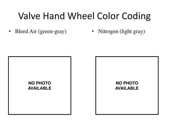 Valve hand wheel color coding1