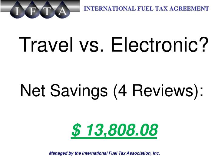 Travel vs. Electronic?