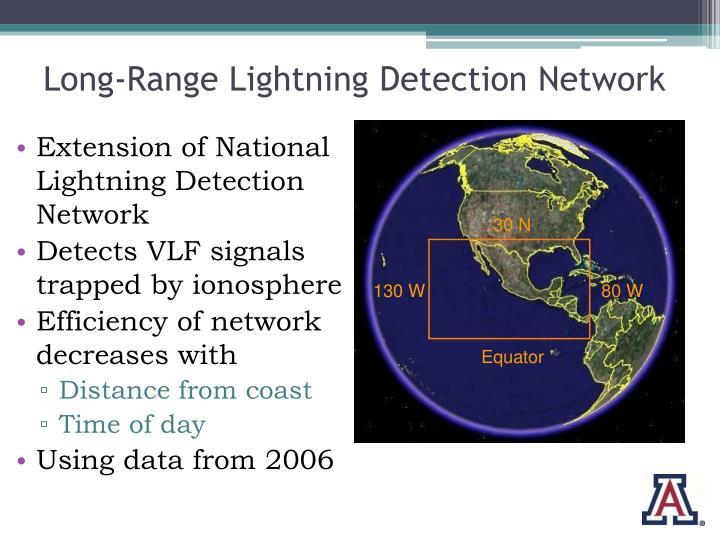 Long-Range Lightning Detection Network