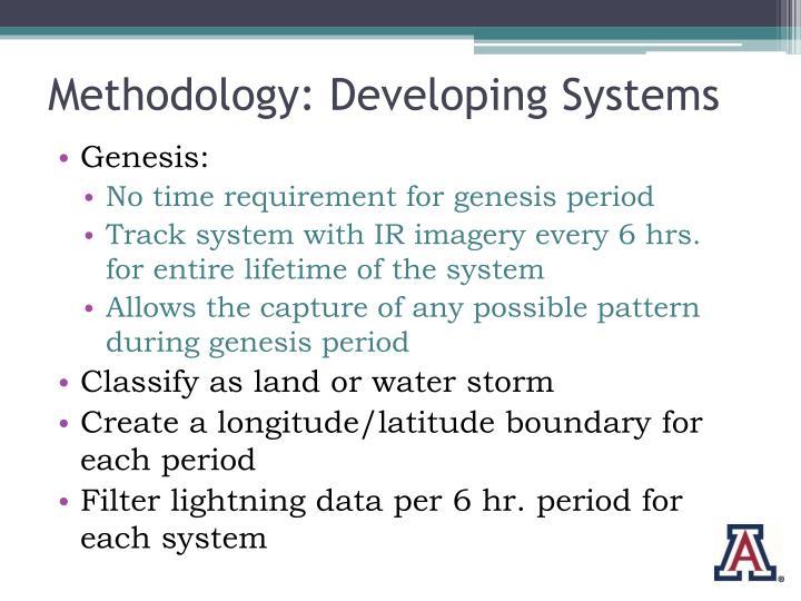 Methodology: Developing Systems