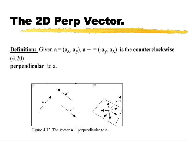 The 2D Perp Vector.