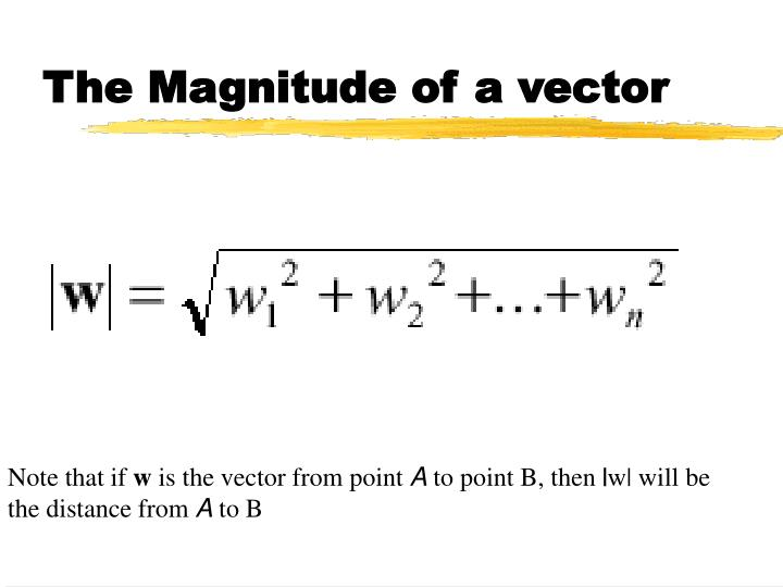 The Magnitude of a vector
