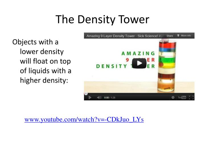 The Density Tower