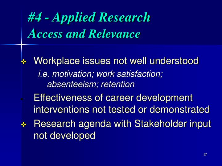 #4 - Applied Research