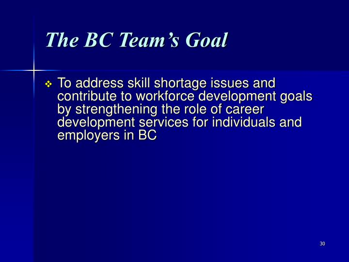 The BC Team's Goal