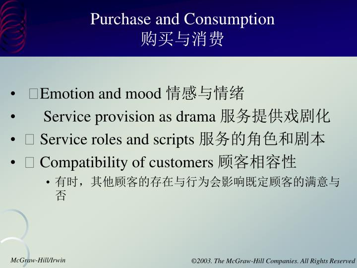 Purchase and Consumption
