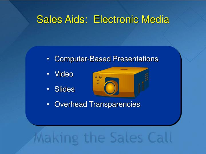 Sales Aids:  Electronic Media