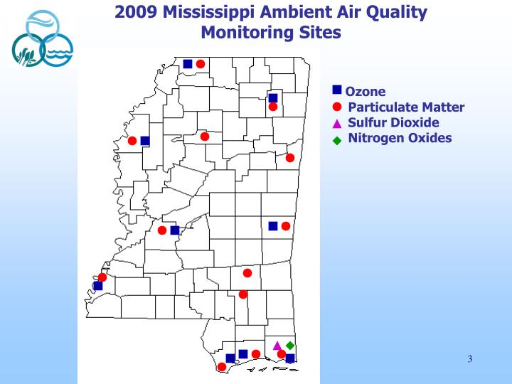 2009 Mississippi Ambient Air Quality Monitoring Sites