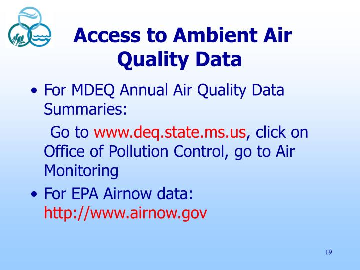 Access to Ambient Air Quality Data