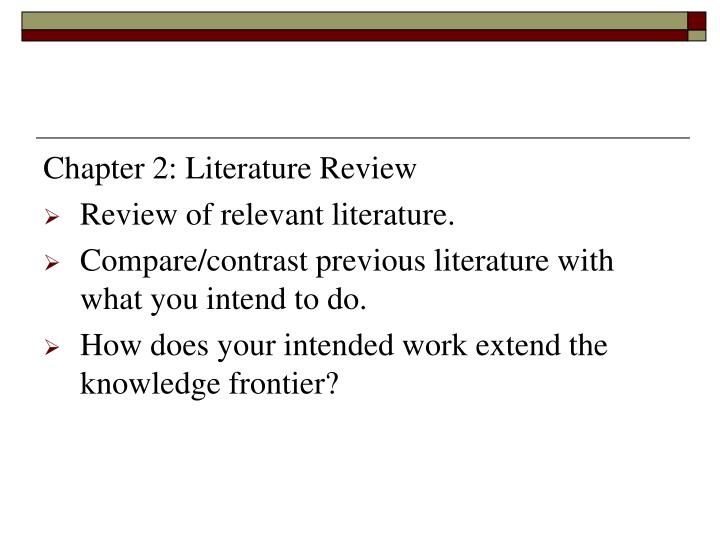 Chapter 2: Literature Review
