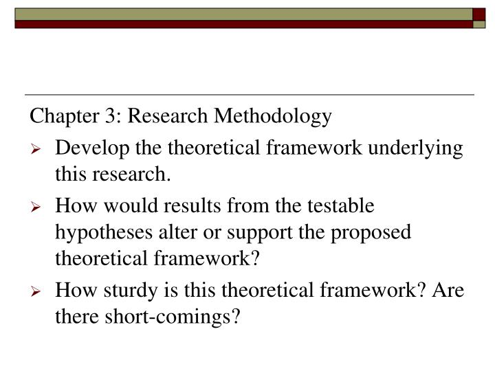 Chapter 3: Research Methodology