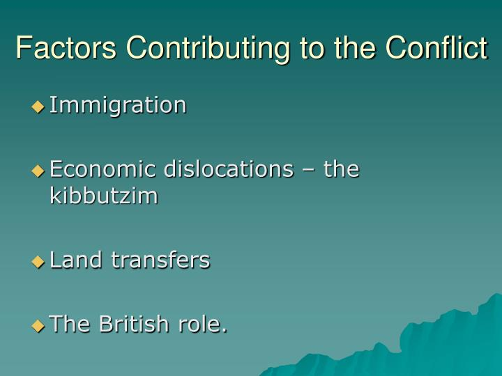 Factors Contributing to the Conflict