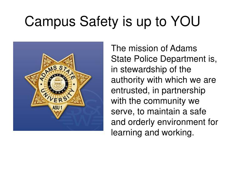campus safety is up to you