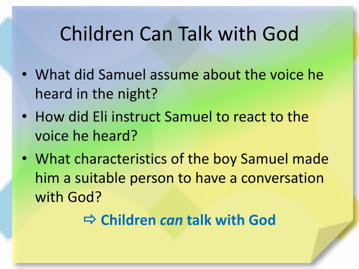 Children Can Talk with God