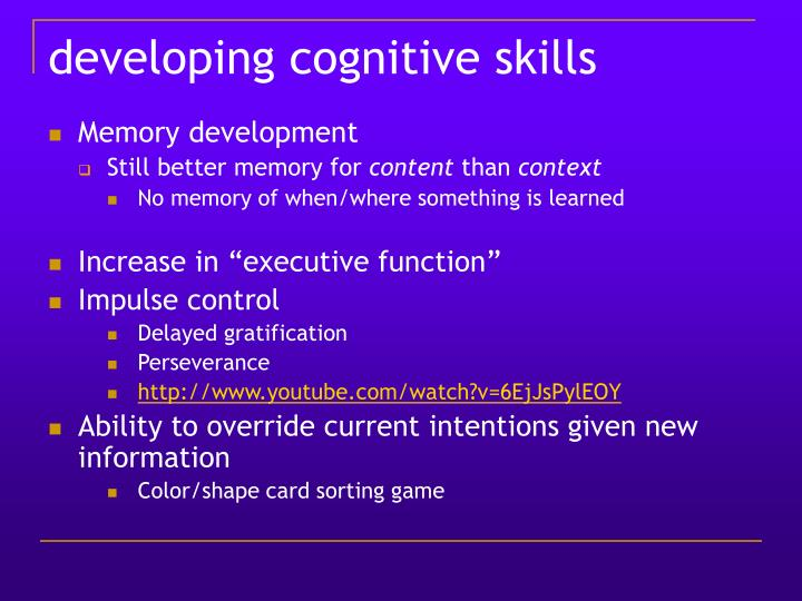 developing cognitive skills