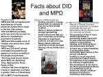 facts about did and mpd