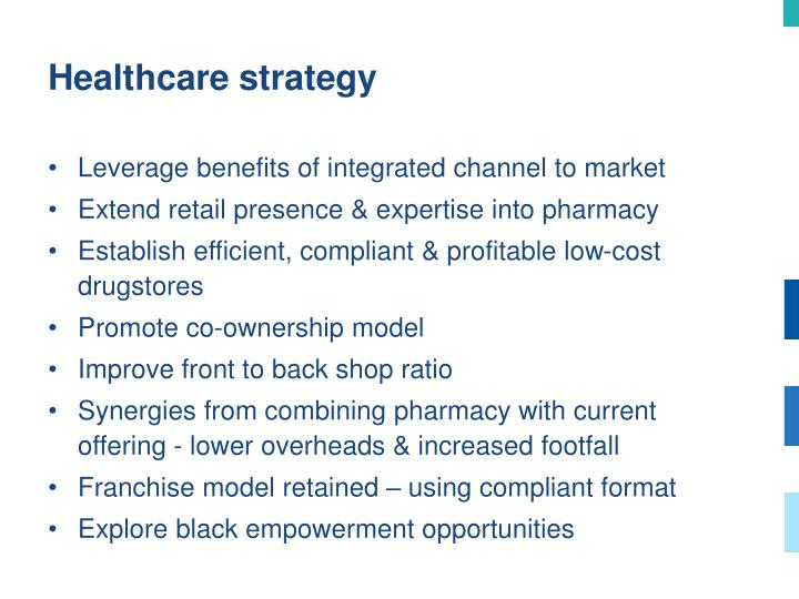 Healthcare strategy