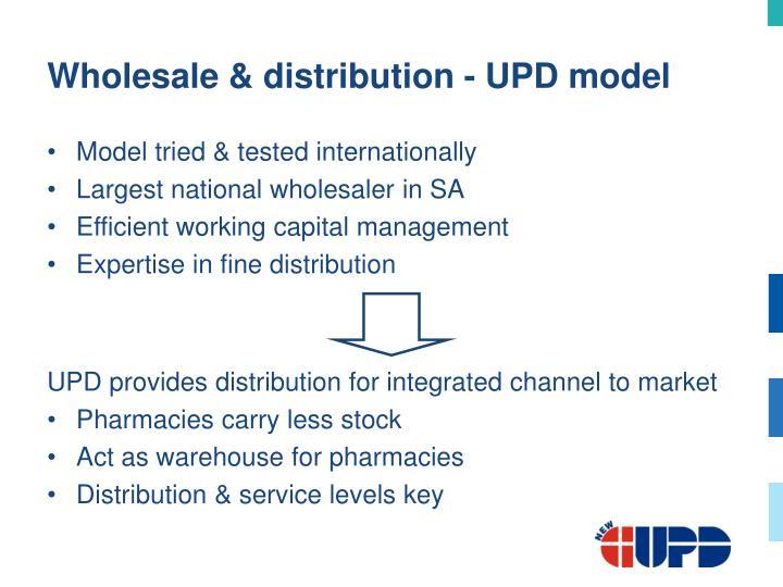 Wholesale & distribution - UPD model
