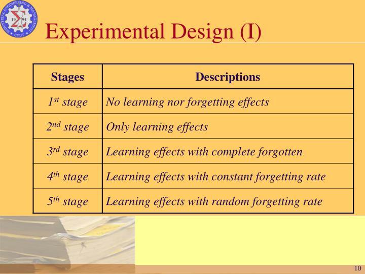Experimental Design (I)
