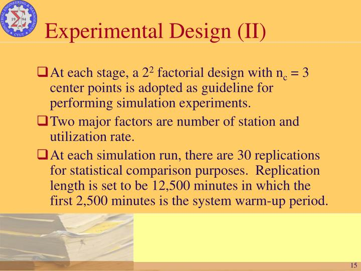 Experimental Design (II)