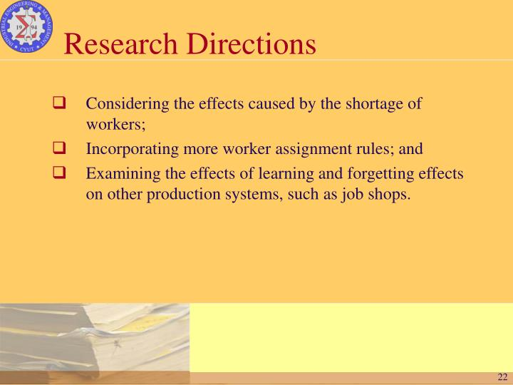 Research Directions