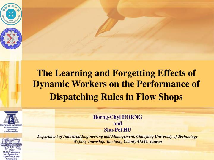 The Learning and Forgetting Effects of Dynamic Workers on the Performance of Dispatching Rules in Fl...