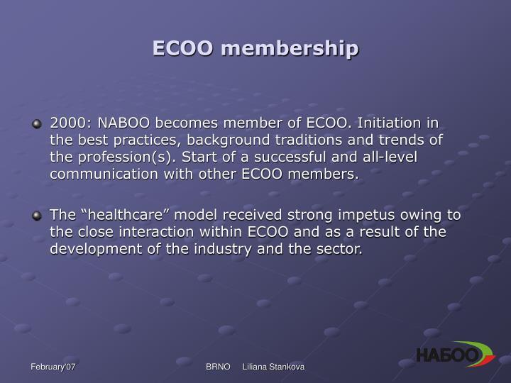 ECOO membership