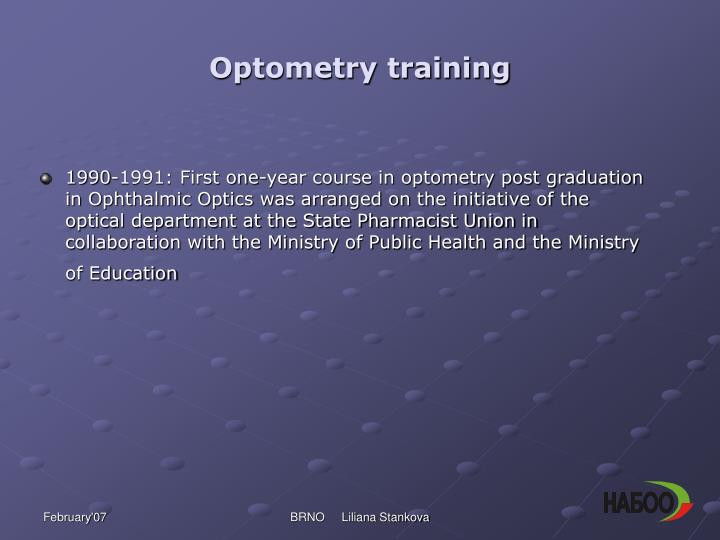 Optometry training